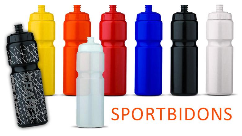 Sportbidon met bedrukking