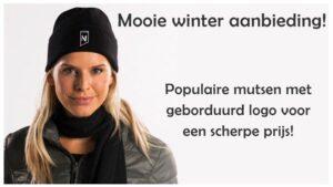 wintermutsen met logo nu scherpe aanbieding
