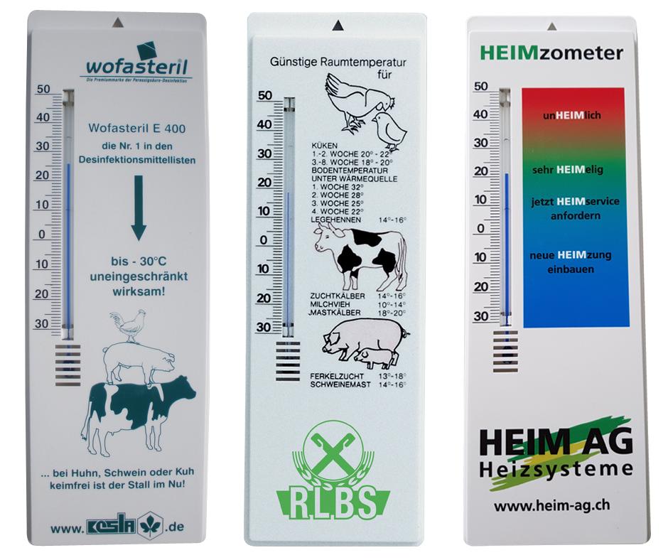Bedrukte Thermometers
