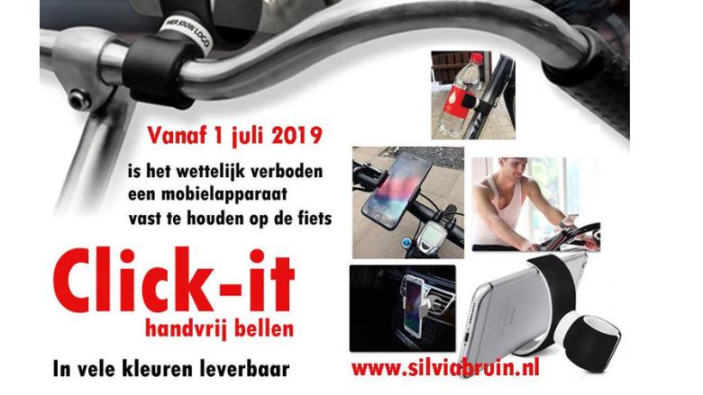 Click-it smartphone houder voor aan de fiets en auto