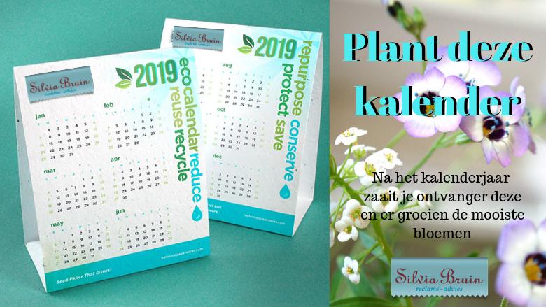 Plant deze kalender