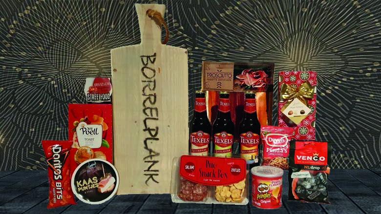 Borrelplankje kerstpakket