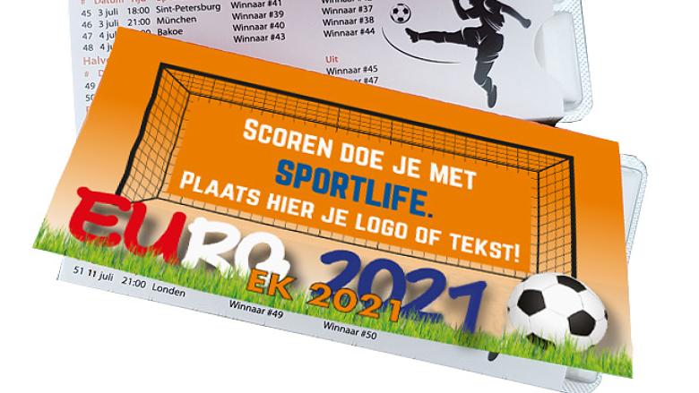 Sportlife kauwgom met EK voetbal schema bedrukt