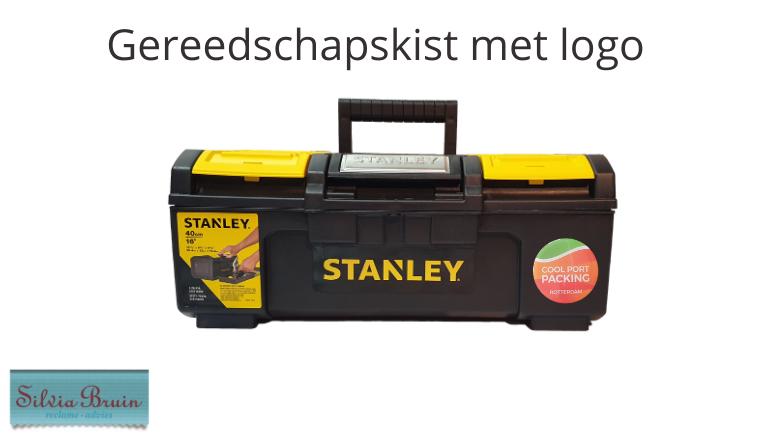 Gereedschapskist Stanley bedrukt met logo