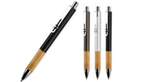 Stijlvolle metalen pen met houten grip