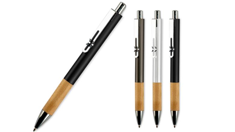 Stijlvolle pen met houten grip