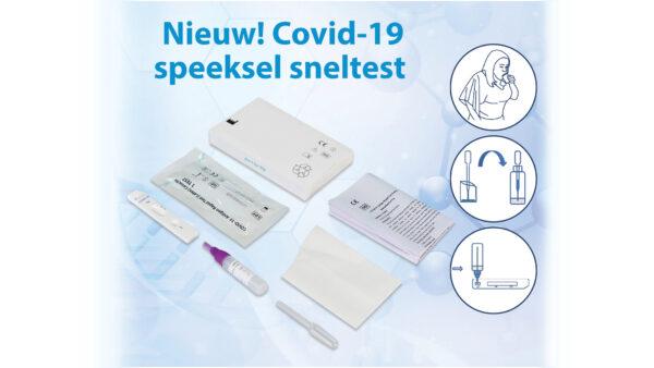 Speeksel sneltest corona Covid 19
