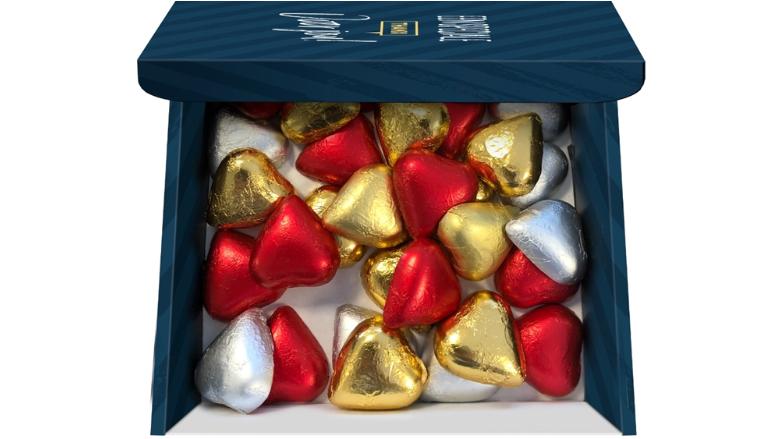 Chocolade hartjes brievenbuspakket