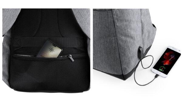 Anti diefstal rugtas met handige zakken