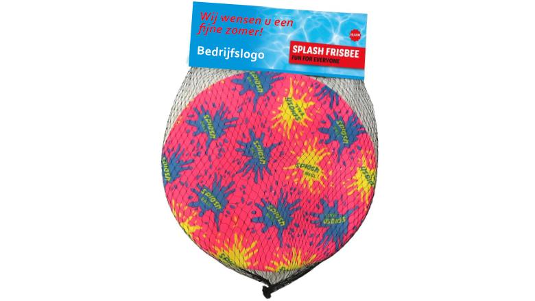 Splash Water frisbee met bedrukte kopkaart