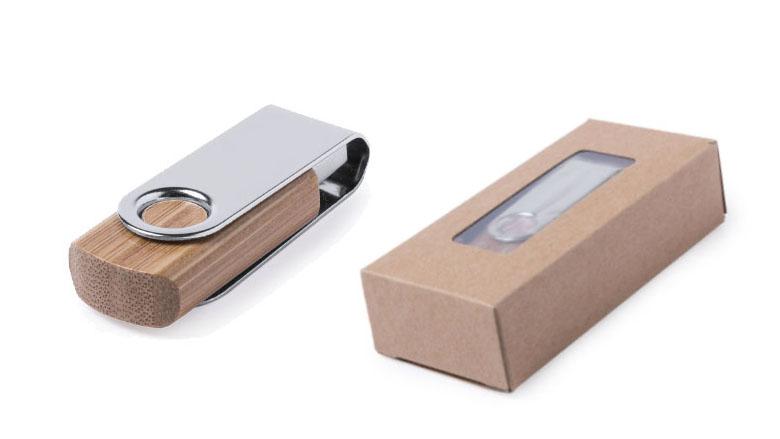 Duurzame USB-stick Bamboe Twister