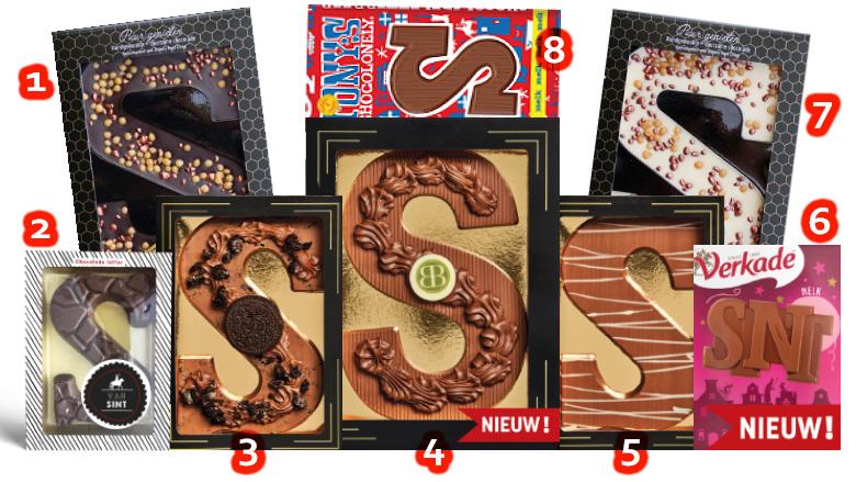Sinterklaas Chocolade letters in diverse soorten